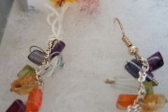 Amethyst-Iolite-Aquamarine-Peridot-Citrine-Carnelian-and-Garnet-earrings-15.00